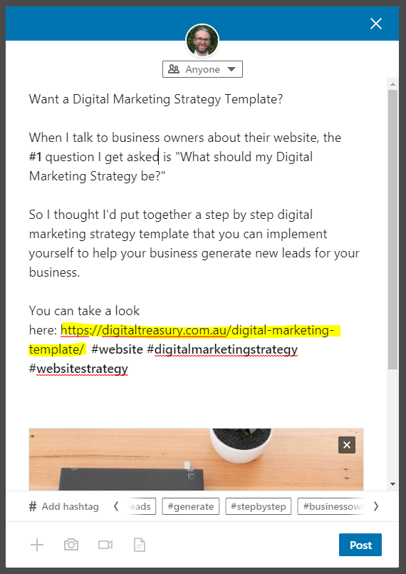 linkedin post example