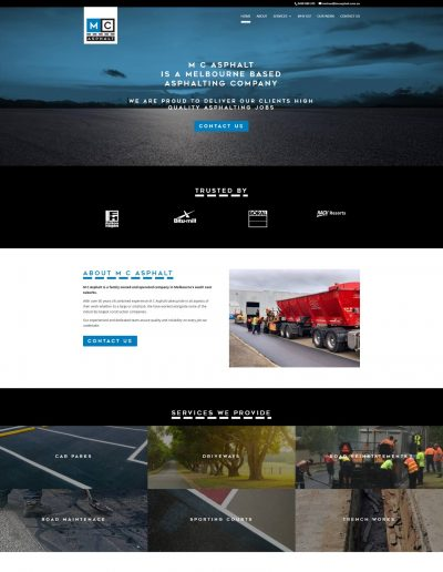 heavy industry website design