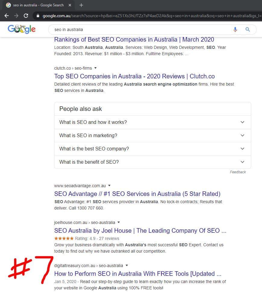 australian google serp checker method