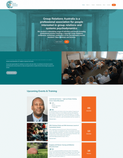 professional member organisation website design